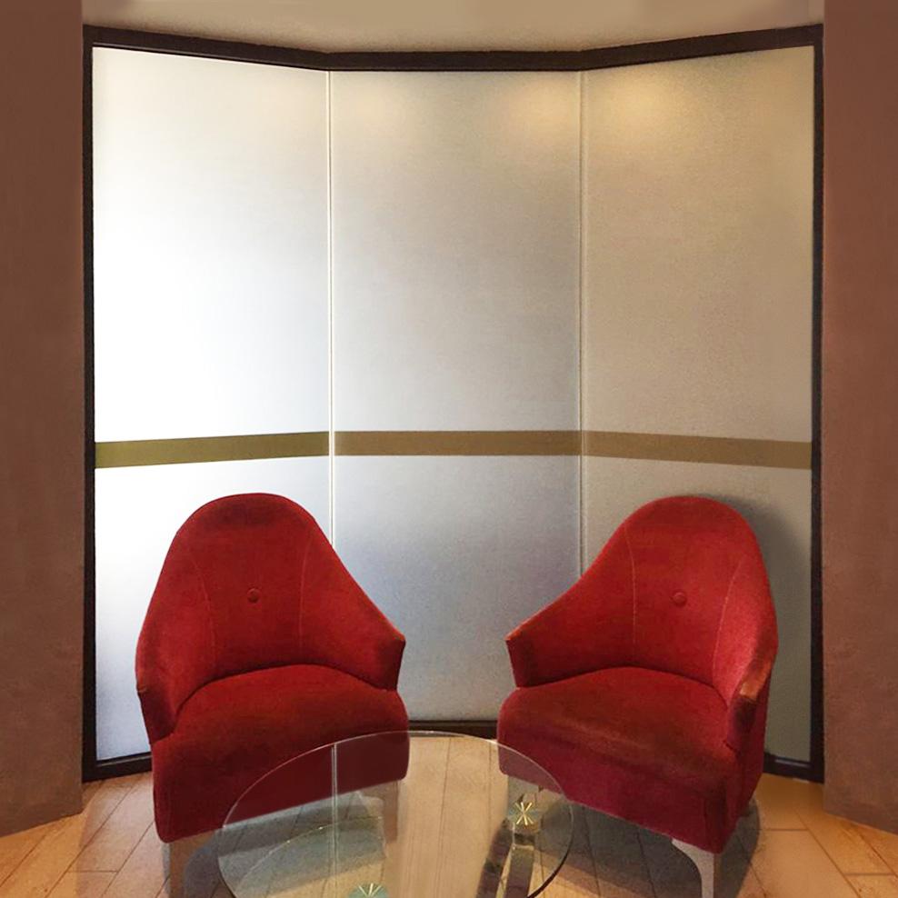 Pellicole satinate per vetri totale effetto privacy